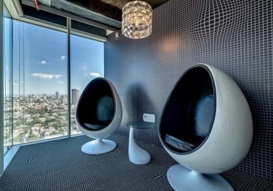 Les bureaux de Google à Tel Aviv : Fauteuils oeuf