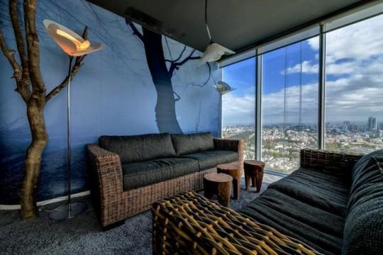 Les bureaux de Google à Tel Aviv : canapé en rotin
