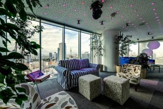 Les bureaux de Google à Tel Aviv : Coin détente avec un canapé