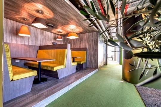 Les bureaux de Google à Tel Aviv : Restaurant ultra moderne