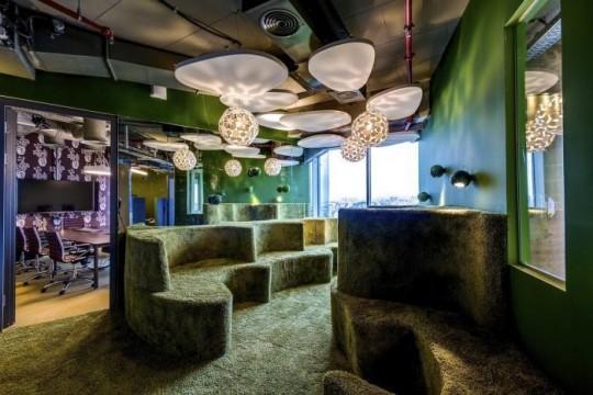 Les bureaux de Google à Tel Aviv : Décoration design