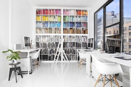 Le bureau du designer Stefan Sagmeister à New-York