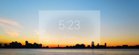 Affichage de l'heure sur les lunettes Google Glass