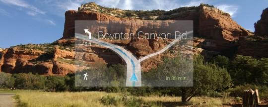 Navigation GPS intégrée aux lunettes Google Glass