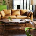 Canapé en cuir camel Ikea Stockholm