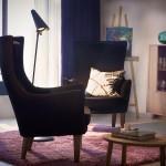 Fauteuil en tissu vintage IKEA collection Stockholm