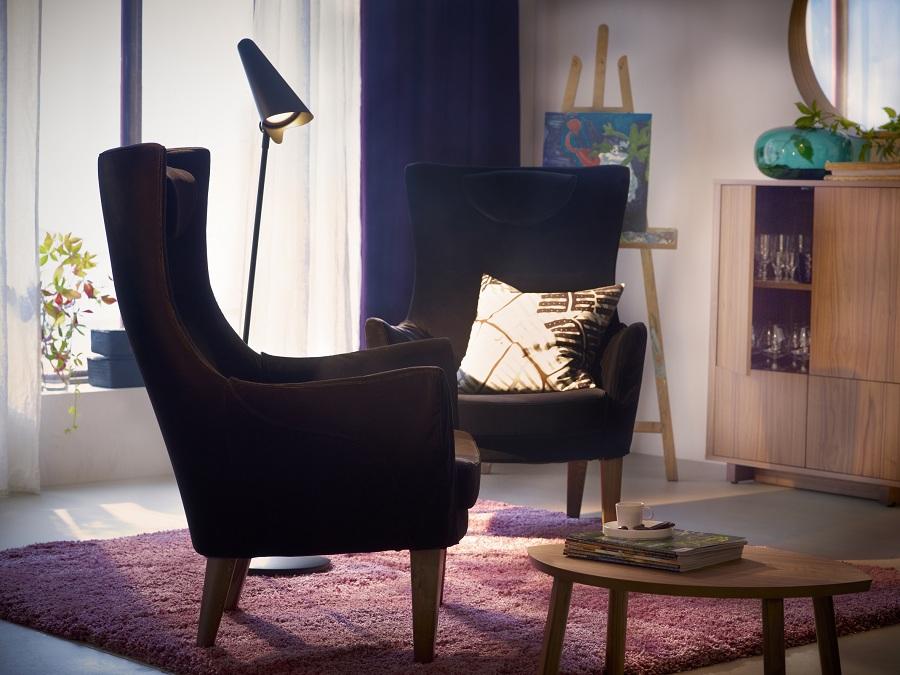 Fauteuil en tissu vintage ikea collection stockholm - Ikea adresse belgique ...