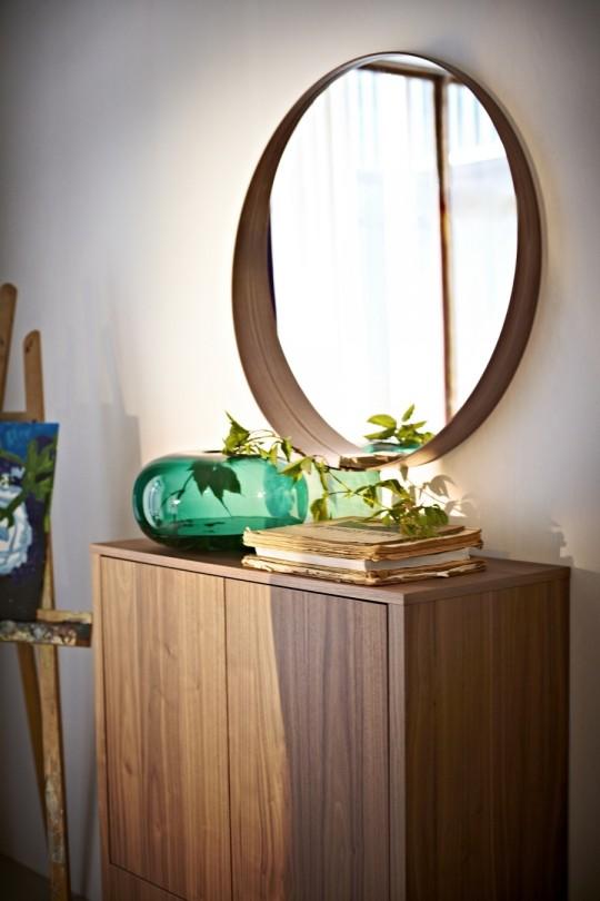 buffet 2 portes en noyer ikea stockholm. Black Bedroom Furniture Sets. Home Design Ideas