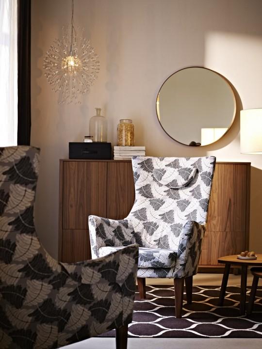 fauteuil en tissu r tro ikea stockholm. Black Bedroom Furniture Sets. Home Design Ideas