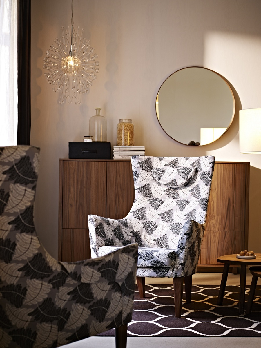 fauteuil en tissu r tro ikea stockholm. Black Bedroom Furniture Sets. Home Design Ideas