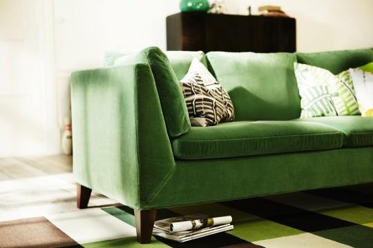 canap en tissu vert ikea stockholm. Black Bedroom Furniture Sets. Home Design Ideas