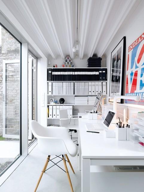 Idée de décoration pour un bureau contemporain