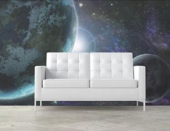 Papier-peint vue de l'espace (Pixers)