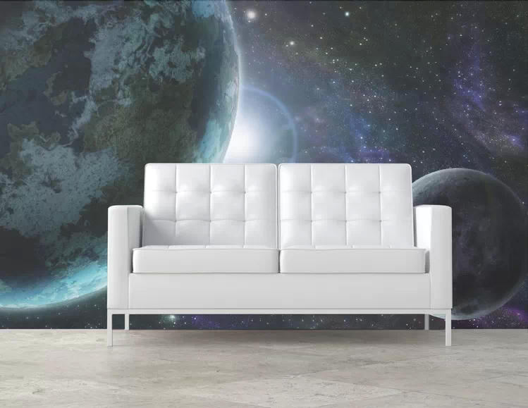 papier peint vue de l 39 espace pixers. Black Bedroom Furniture Sets. Home Design Ideas