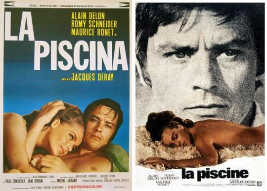 Affiche du film La Piscine avec Alain Delon et Romy Schneider