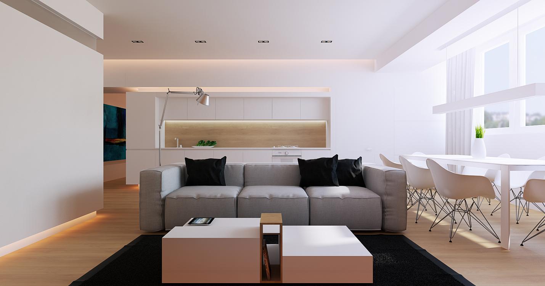 canap design tr s moelleux avec des lignes cubiques en tissu gris clair. Black Bedroom Furniture Sets. Home Design Ideas