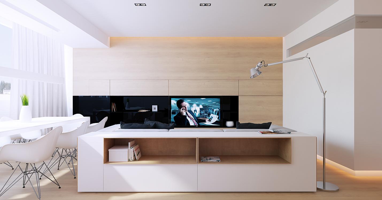 meuble de rangement adoss au canap. Black Bedroom Furniture Sets. Home Design Ideas