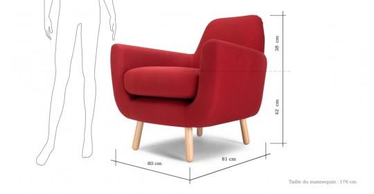 Dimensions du fauteuil Jonah