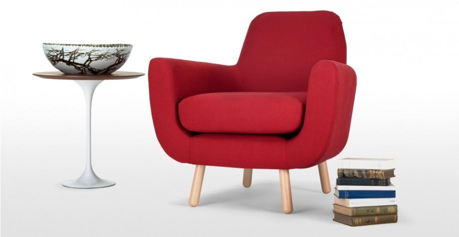 Fauteuil rouge design christoph - Fauteuil rouge design ...