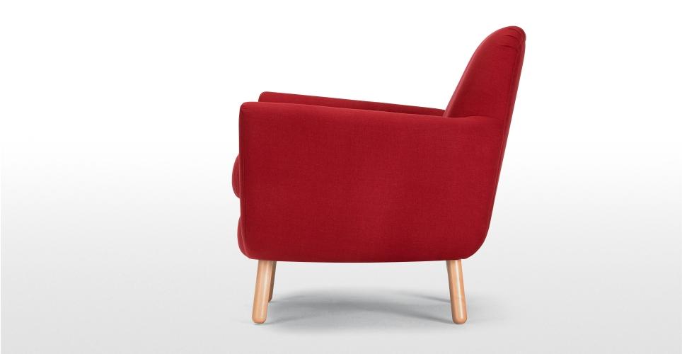 fauteuil rouge jonah de profil. Black Bedroom Furniture Sets. Home Design Ideas