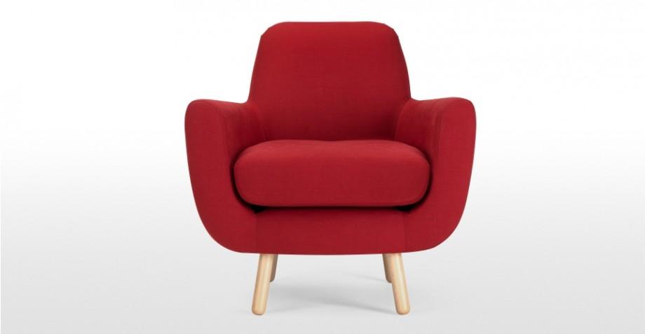 fauteuil rouge groseille jonah design james harrison. Black Bedroom Furniture Sets. Home Design Ideas