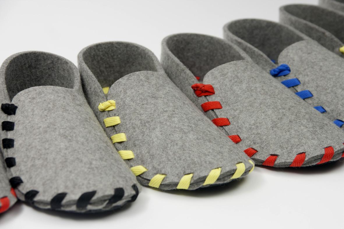fa3292cb9f601 Lasso   Les jolies pantoufles en kit avec des lacets de couleur