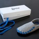 Lasso : pantoufle en feutre gris avec lacet à monter