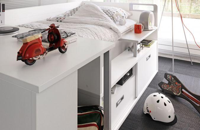 lit adolescent gautier dimix. Black Bedroom Furniture Sets. Home Design Ideas