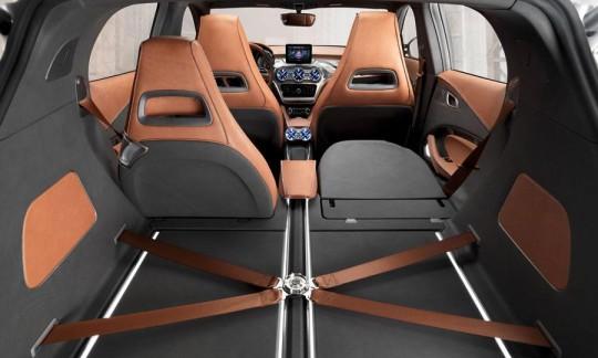 Mercedez Benz GLA concept car SUV compact Coffre