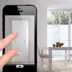Application iPhone porte coulissante virtuelle Eclisse