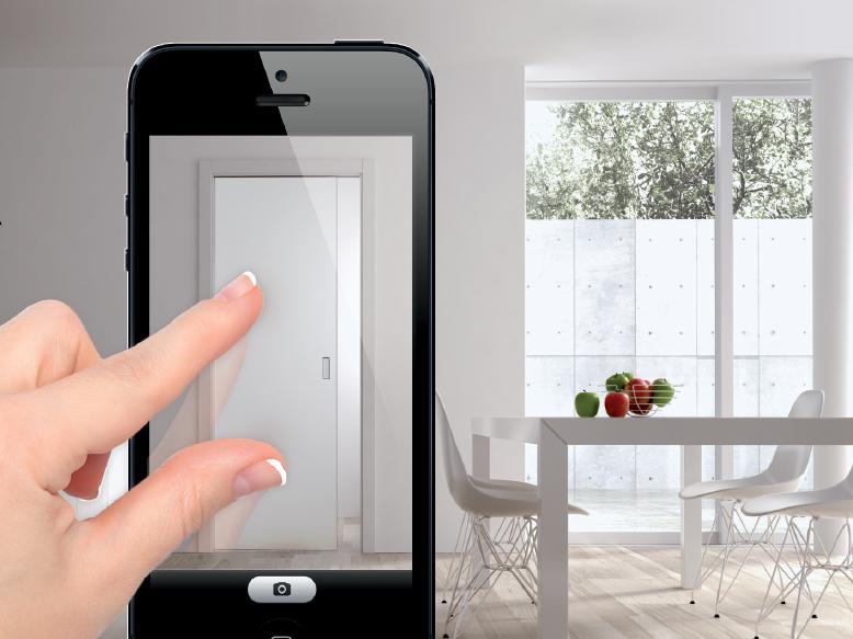 Testez (virtuellement) une porte coulissante chez vous avec l'application iPhone Eclisse