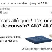 Ikea fait sa pub pour ses coussins Hallo avec la phrase de Nabilla