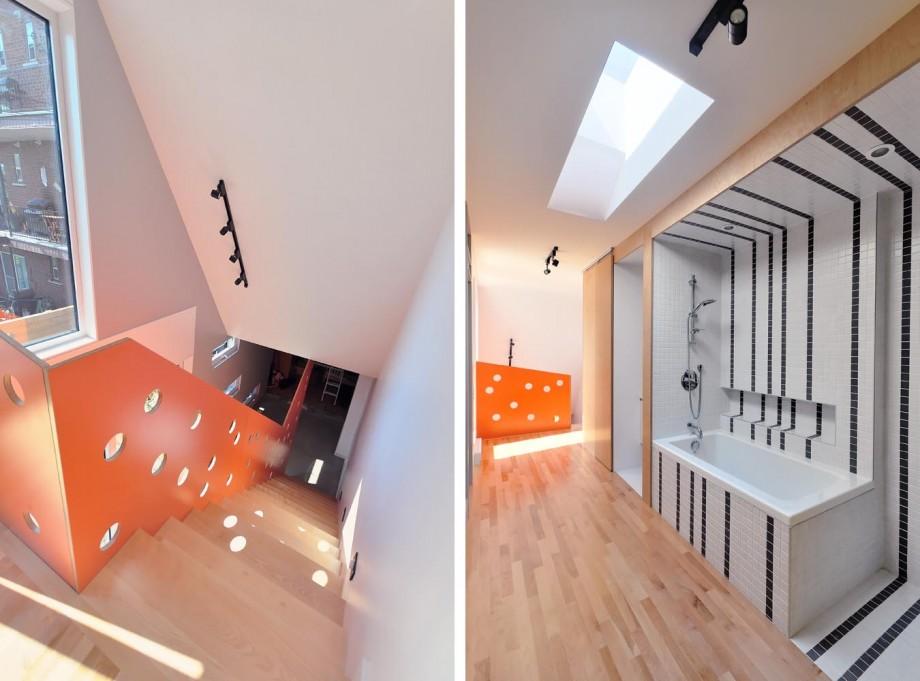 maison contemporaine la couleuvre escalier et baignoire. Black Bedroom Furniture Sets. Home Design Ideas