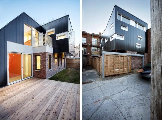 Extension d 39 une maison en quintuplex montr al par nature for Agrandissement maison montreal