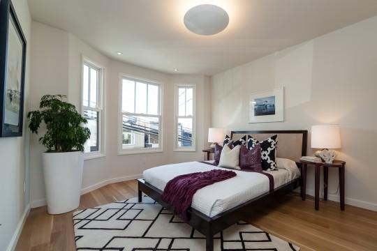 Chambre arrondie dans une maison des années 30 à San Francisco
