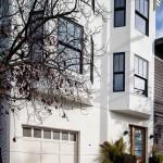 Façade d'une maison Edwardienne à San Francisco