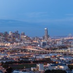 Photo panoramique de San Francisco la nuit