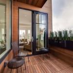 Terrasse en teck dans une maison victorienne à San Francicso