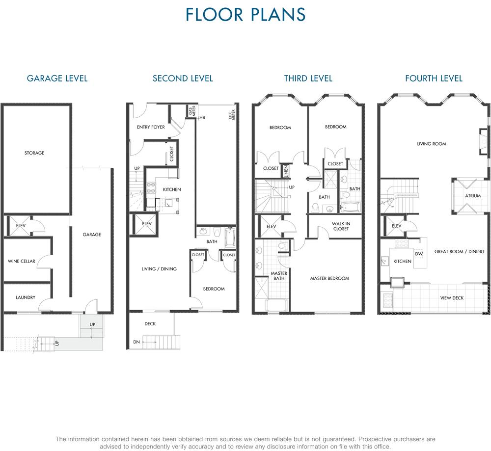 plan d 39 une maison triplex san francisco potrero hill. Black Bedroom Furniture Sets. Home Design Ideas
