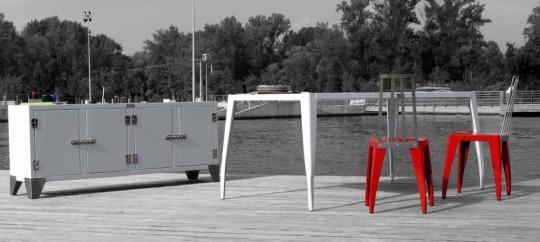 Wootz, mobilier en métal outdoor de style industriel