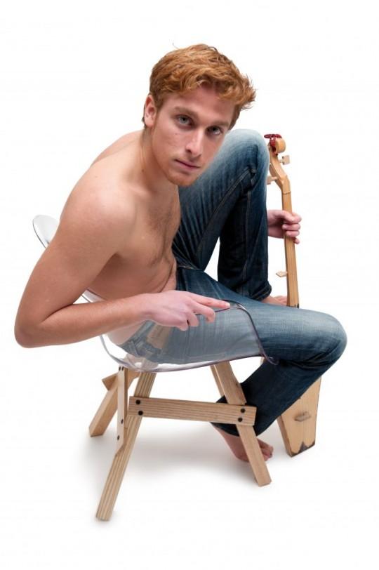 Fauteuil rétro Icon avec un mannequin
