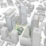 Vue 3D du nouveau siège d'Amazon à Seattle