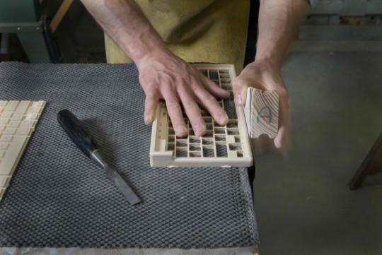 Clavier en bois massif fait main Orée