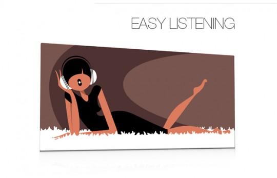 Tableau rétro Easy Listening Qora & Shaï