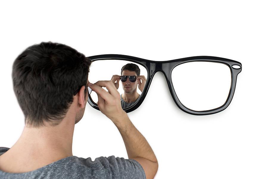 Looking good miroir paire de lunettes - Miroir en forme de lunette ...