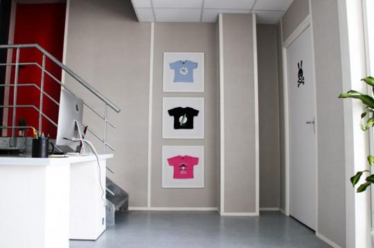 Presque parfait - tableaux avec des t-shirts