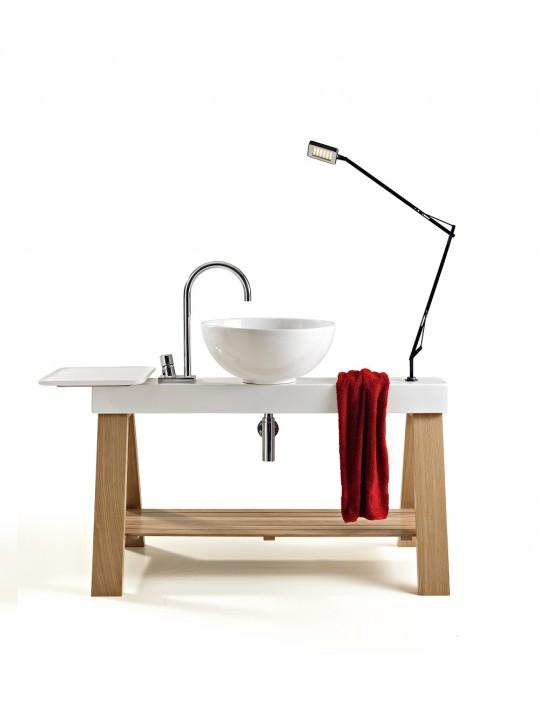Vasque sur barre céramique à poser CAVALLETTO
