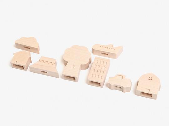 small ville bouchons en bois cables iphone ipad