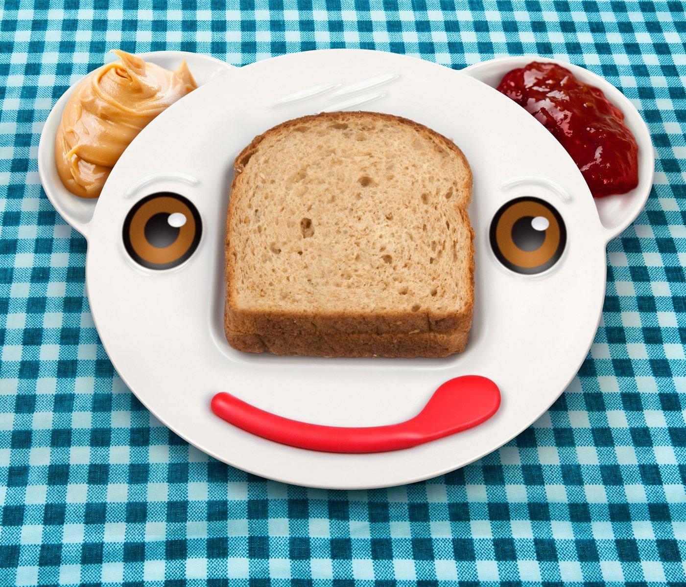 assiette pour enfant fred and friends spreddy bear sandwich plate. Black Bedroom Furniture Sets. Home Design Ideas