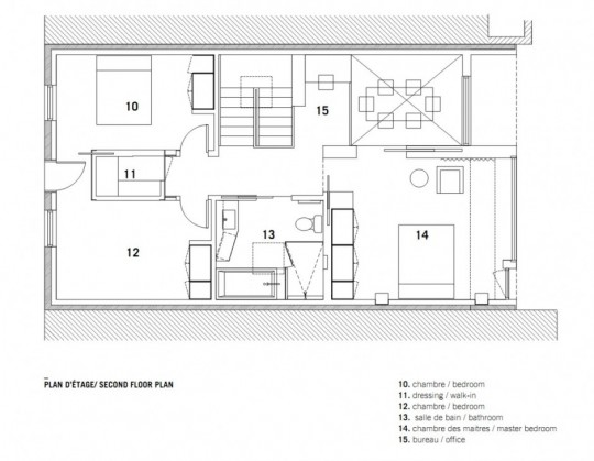 Chambord Residence by naturehumaine - plan 2ème étage
